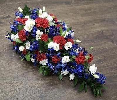 Red White And Blue Single Ended Spray Buy Online Or Call 01525 237939