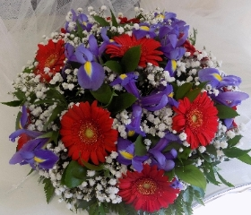 Red and Purple Posy