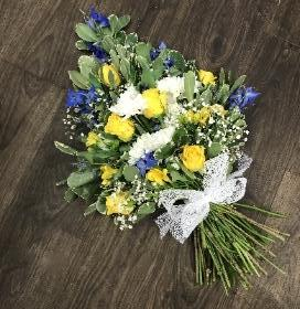 Yellow and Blue Hand Tied Sheaf