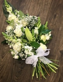 White hand tied sheaf