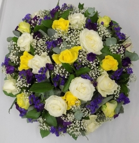 Purple and Gold Posy