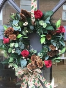 Artificial Door Wreath or Table Arrangement workshop Saturday 2nd November 2.00 pm DEPOSIT