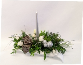 White Table Arrangement