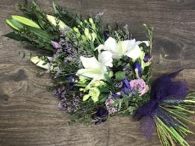 Purple Hand Tied Sheaf