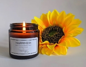 HAPPINESS   French Vanilla Scented Candle