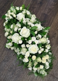 Ivory Rose Casket Spray