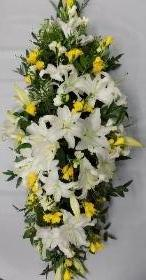 Lily and Freesia Casket Spray