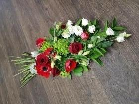 Red and White Hand Tied Sheaf