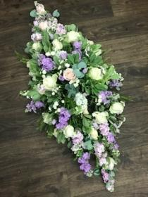 Seasonal Pastel Casket Spray