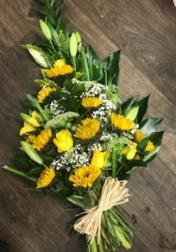 Yellow Hand Tied Sheaf